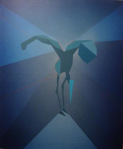 Czapla - przebudzenie 110x100 cm, 2007r.