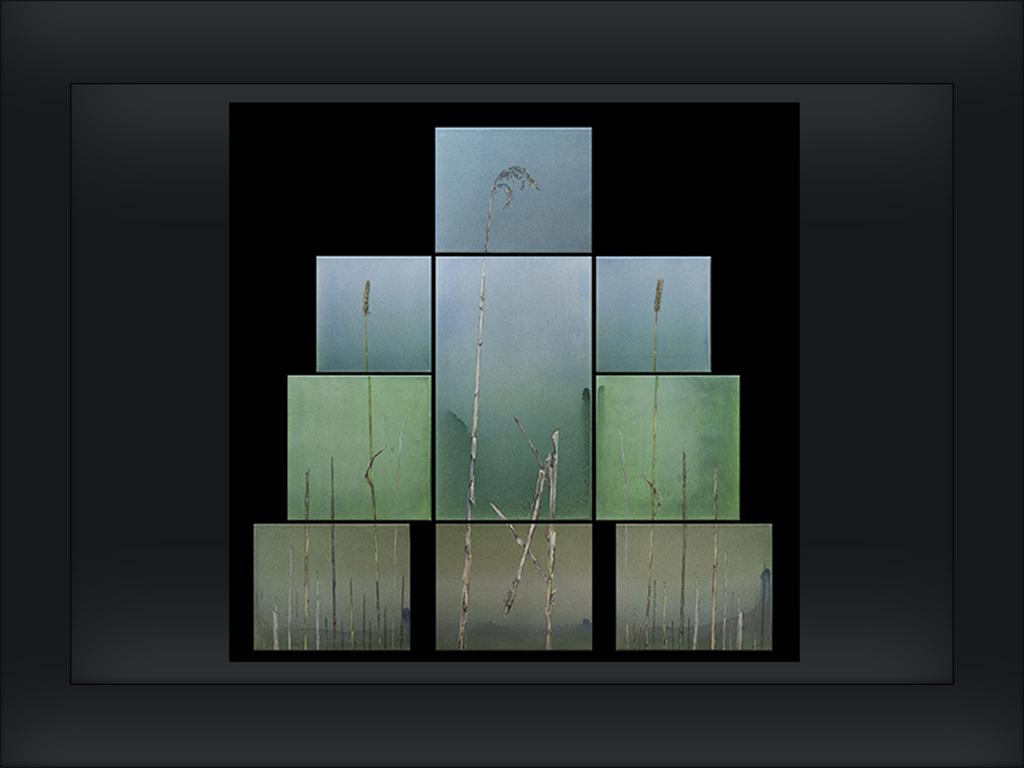 15 IRIJ - STOP akryl itusz akrylowy napłótnie 81 x 118 cm lato 2013